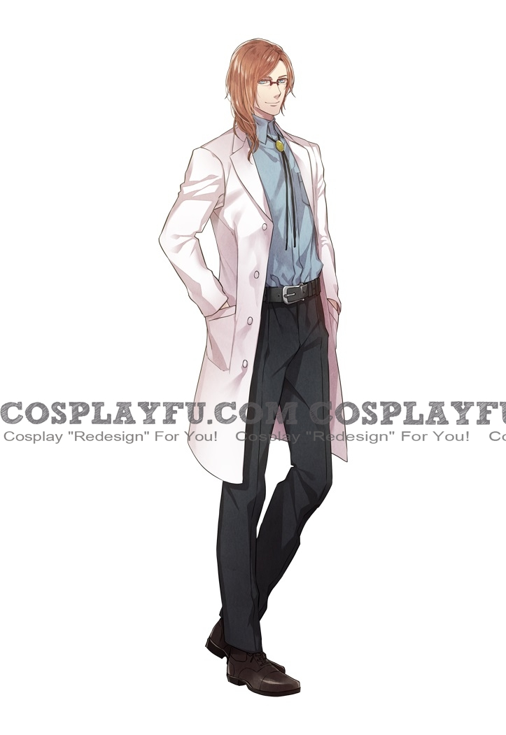 Edward Takasaki Cosplay Costume from Zettai Kaikyuu Gakuen Eden with roses and phantasm