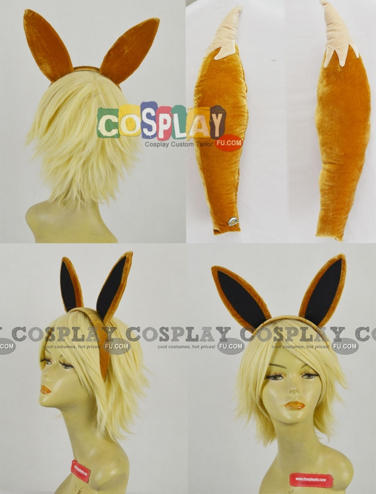 Evee Cosplay Costume (Tail and Ears) from Pokemon