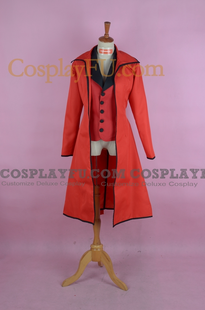 Grell Cosplay Costume (without Pants and Shirt) from Kuroshitsuji