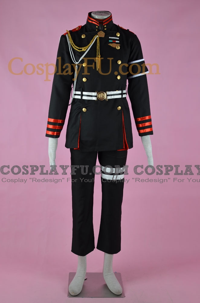 Guren Cosplay Costume (Black version) from Seraph of the End