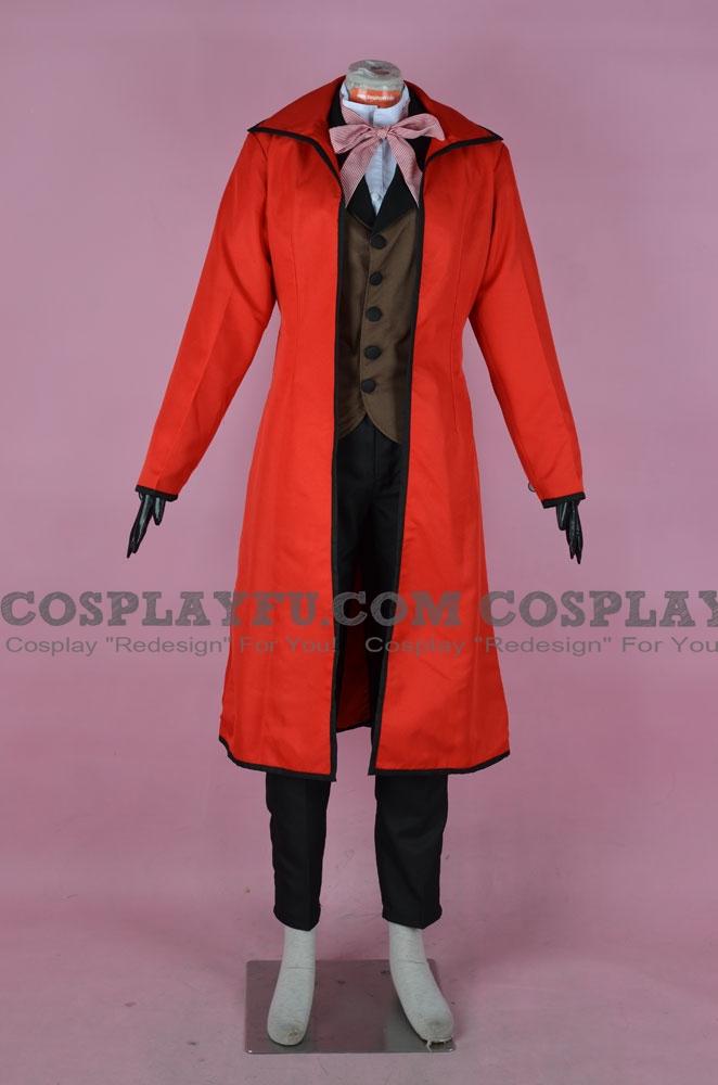 Grell Cosplay Costume from Kuroshitsuji