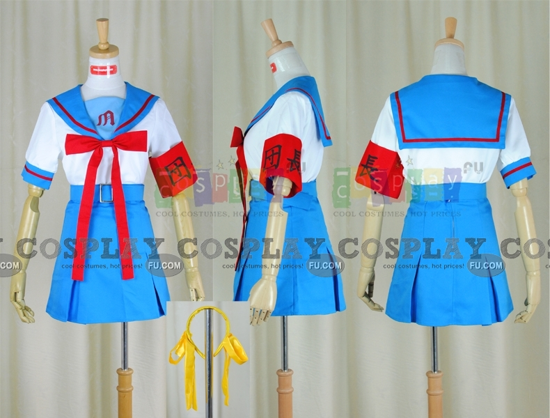 Haruhi Cosplay Costume (Summer Uniform) from The Melancholy of Haruhi Suzumiya