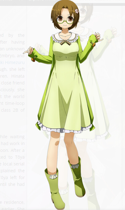 Hinata Cosplay Costume from XBlaze Code Embryo