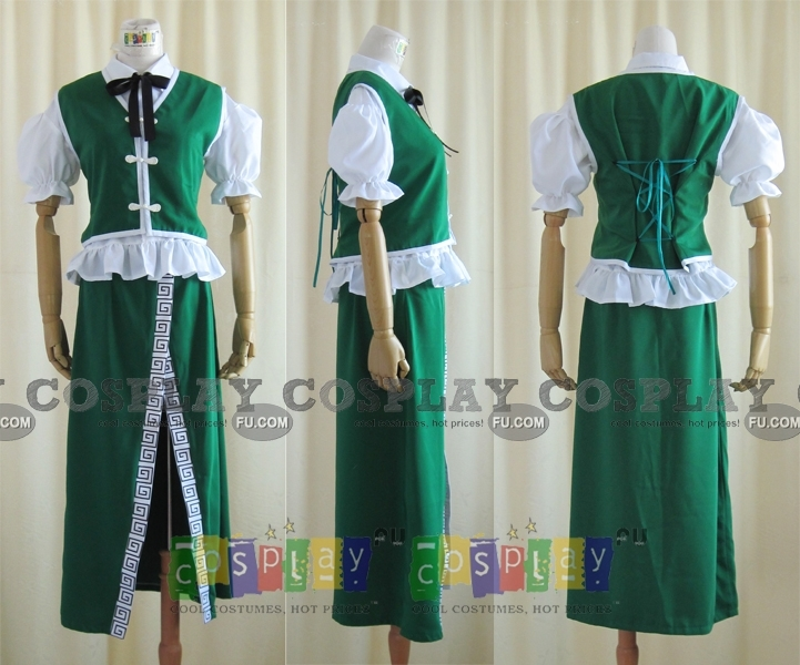 Meirin Cosplay Costume from Touhou Project