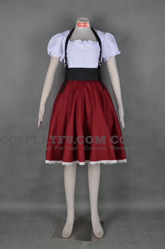 Custom Italy Cosplay Costume (Fem) from Axis Powers ...