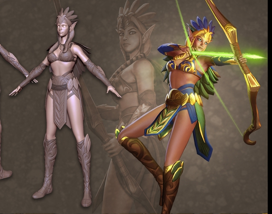 Ivy Cosplay Costume from Orcs Must Die Unchained