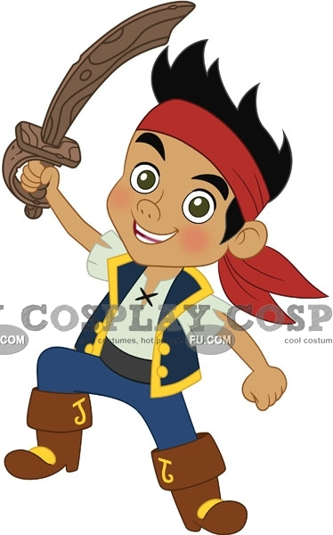 Jake Cosplay Costume from Jake and the Never Land Pirates