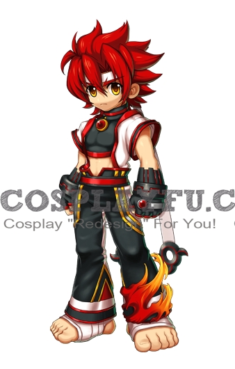 Jin Cosplay Costume from Grand Chase