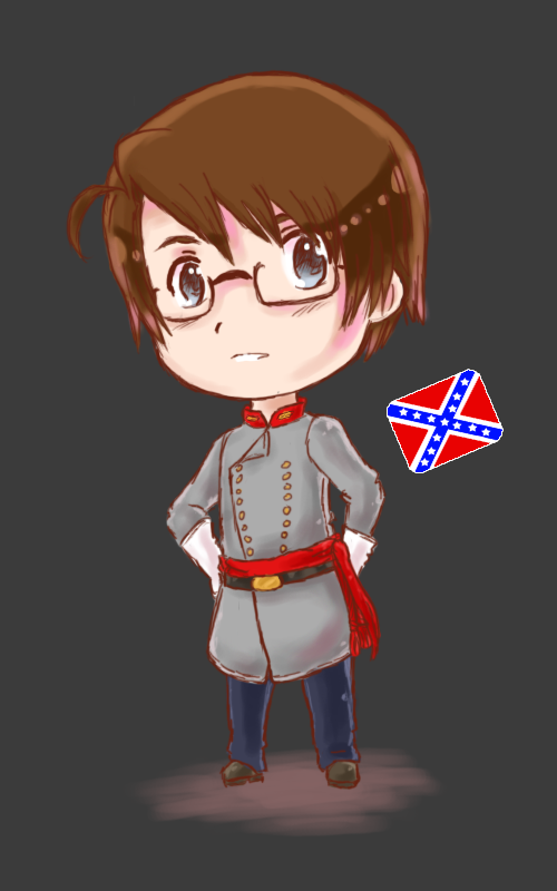 Jonathan Jones Cosplay Costume (Confederate States of America) from Axis Powers Hetalia