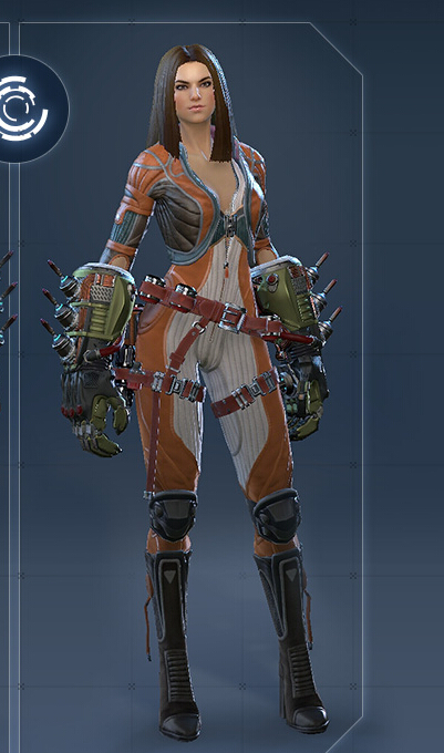 Kinetic Female Cosplay Costume from Skyforge