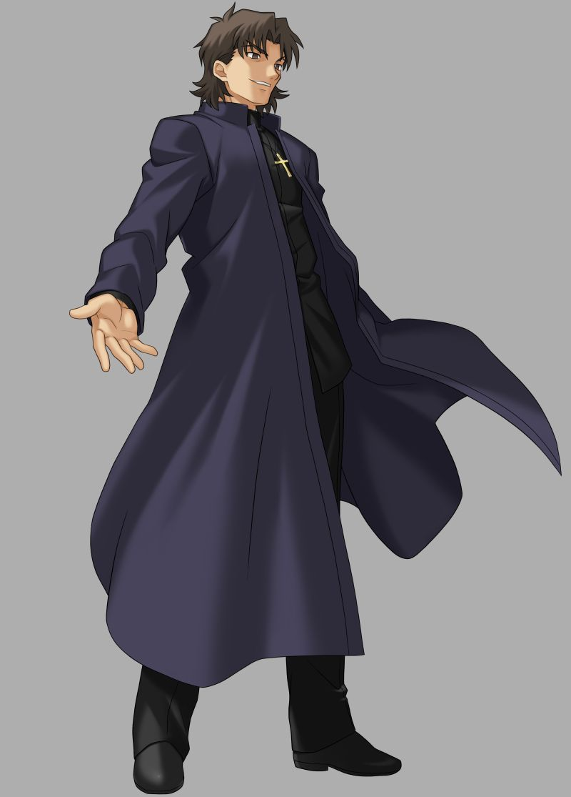 Kotomine Kirei Cosplay Costume from FateZero