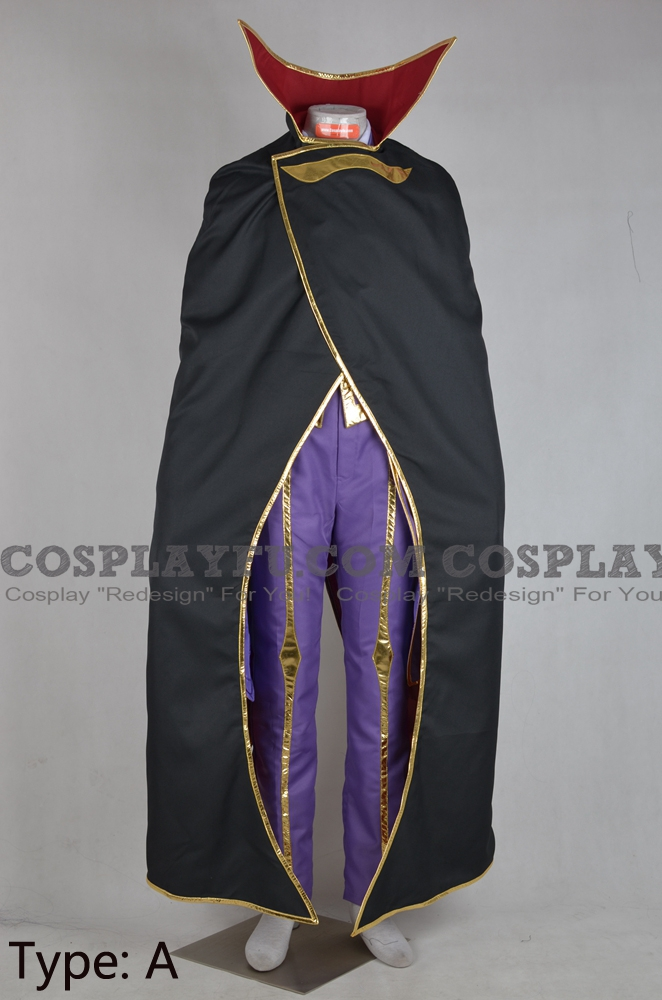 Lelouch Cosplay Costume (with Cloak) from Code Geass
