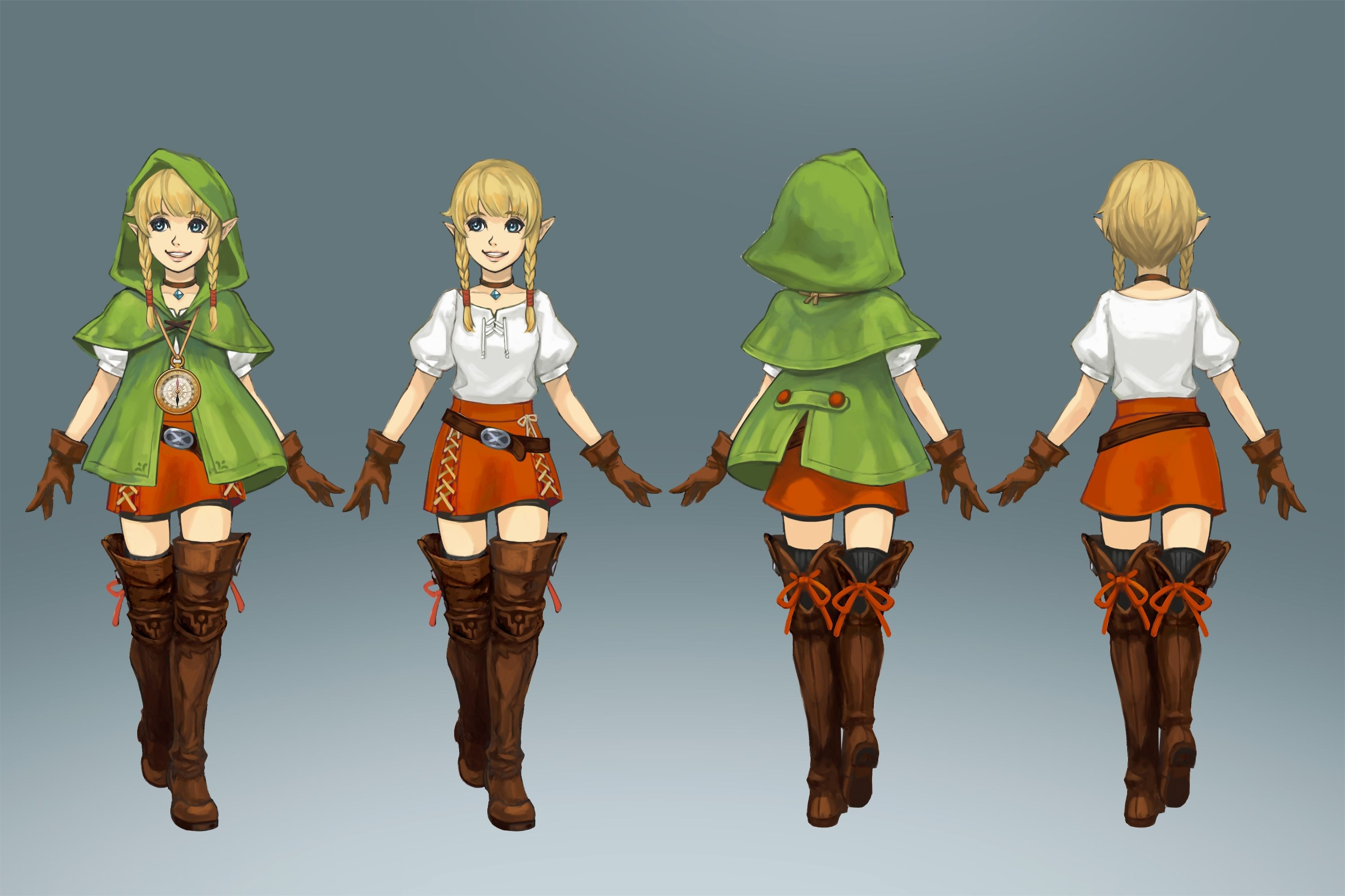 Linkle Cosplay Costume from Hyrule Warriors Legends