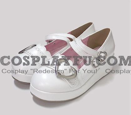 Lolita Shoes (Heart shaped, White)