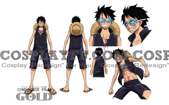 One Piece Monkey D. Luffy Costume (Or)