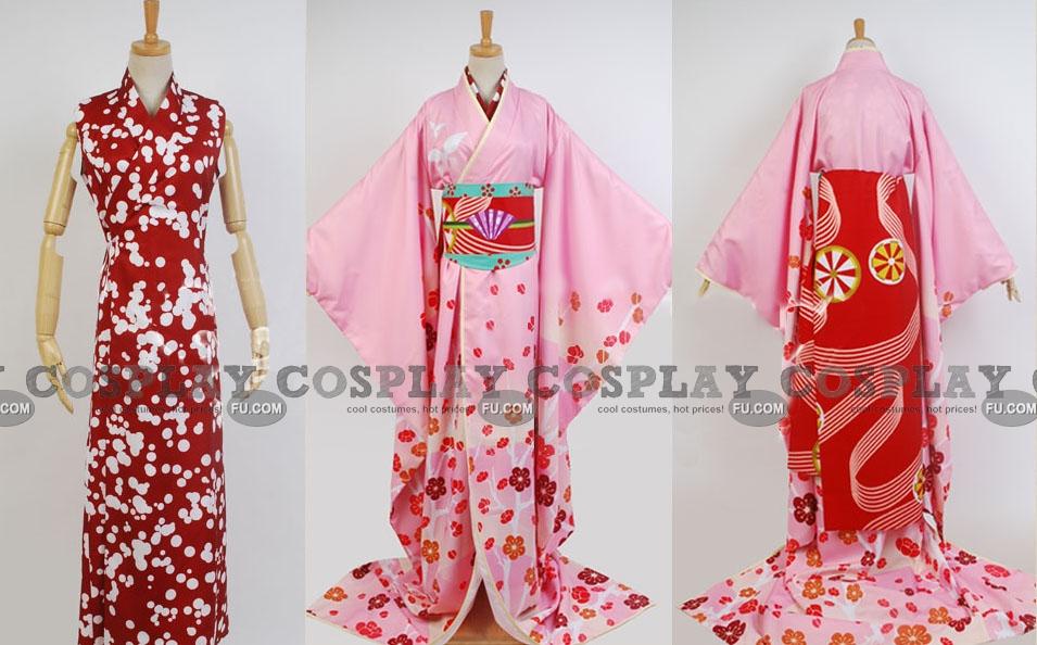 Mami Cosplay Costume (Gisha) from Puella Magi Madoka Magica