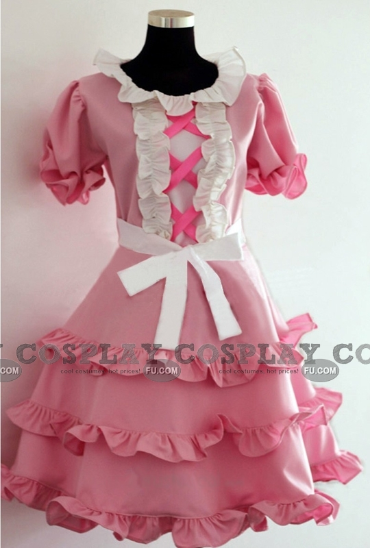Mana Cosplay Costume (Pink) from Guilty Crown