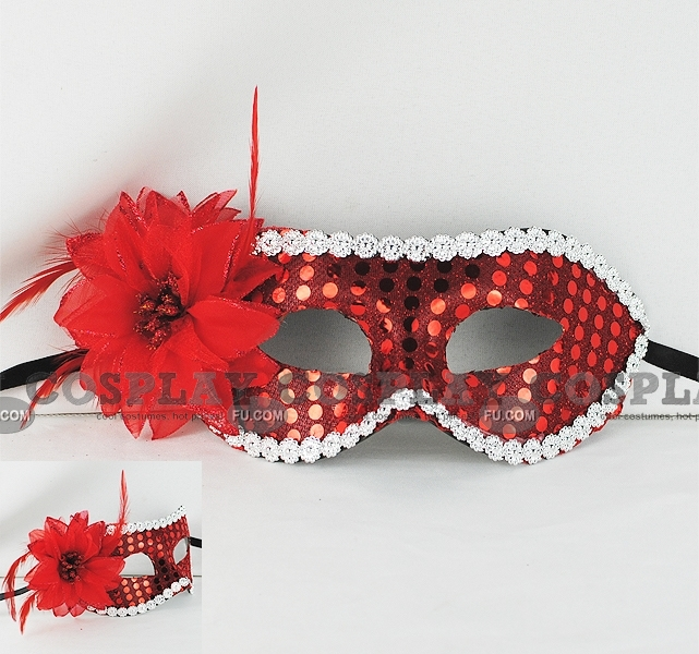 Masquerade Mascara Cosplay (Red Silver 02)