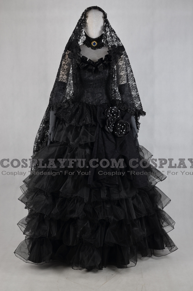 Miku Cosplay Costume (Secret-Black Vow) from Vocaloid