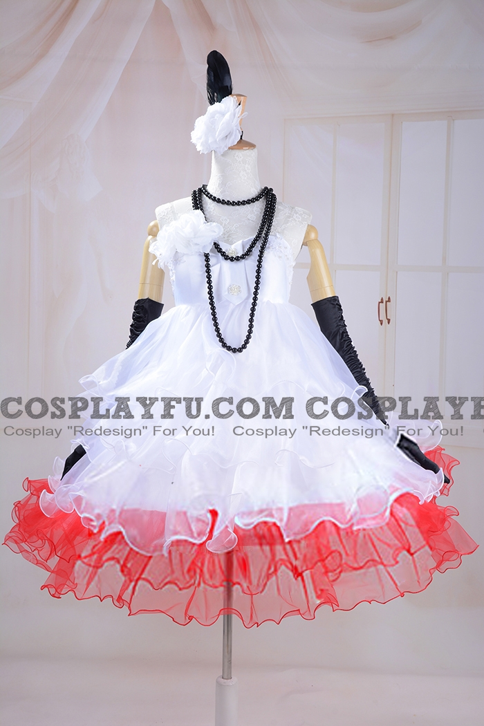 Miku Zatsune Cosplay Costume (Camellia) from Vocaloid