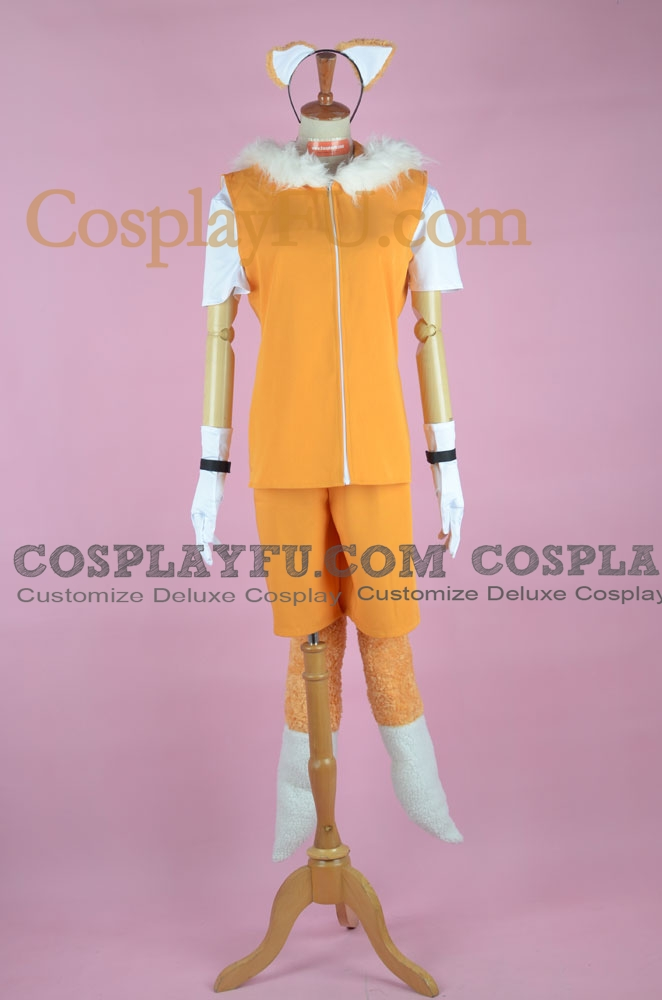 Miles Prower Cosplay Costume from Sonic the Hedgehog