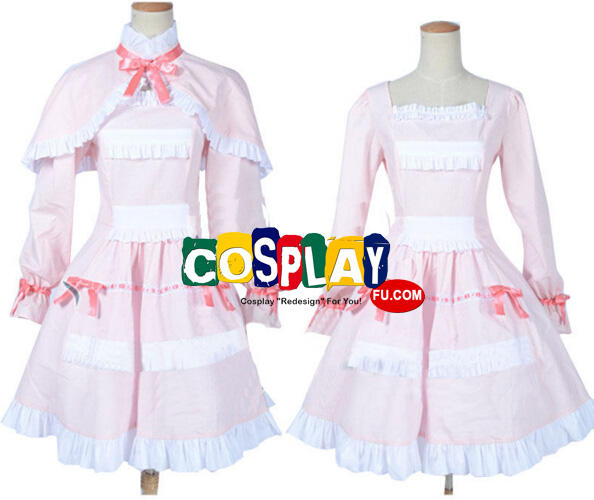 Fujioka Cosplay Costume (Pink Dress) from Another