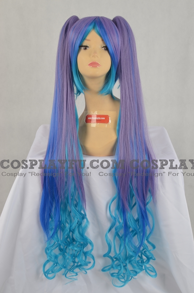 Mix Color Wig (Clips on, Curly, HMiku)