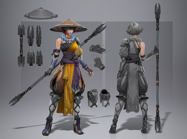 Monk Female Cosplay Costume from Skyforge