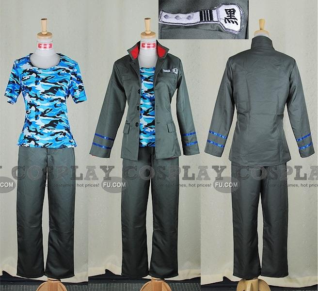 Tutor Hitman Reborn! Mukuro Rokudo Costume (School Uniform)