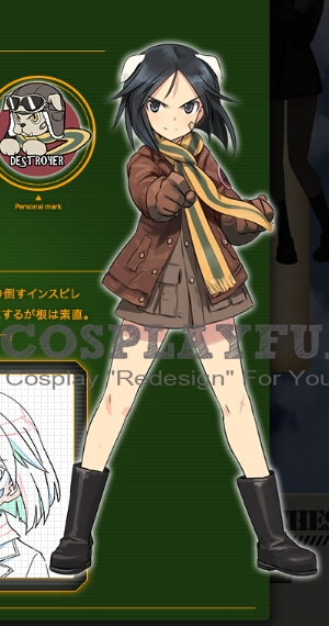 Naoe Cosplay Costume from Strike Witches