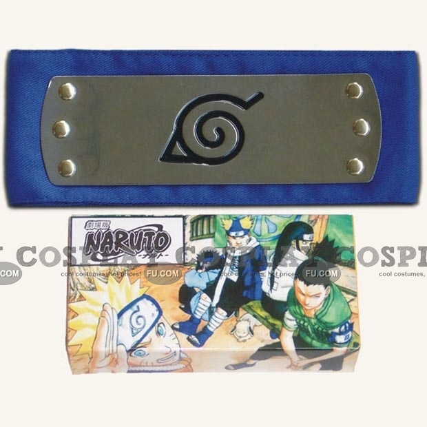 Naruto Headband (Blue,Leaf Village,Package) from Naruto