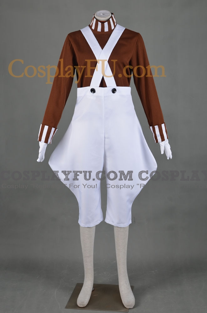 Oompa Cosplay Costume from Willy Wonka and the Chocolate Factory