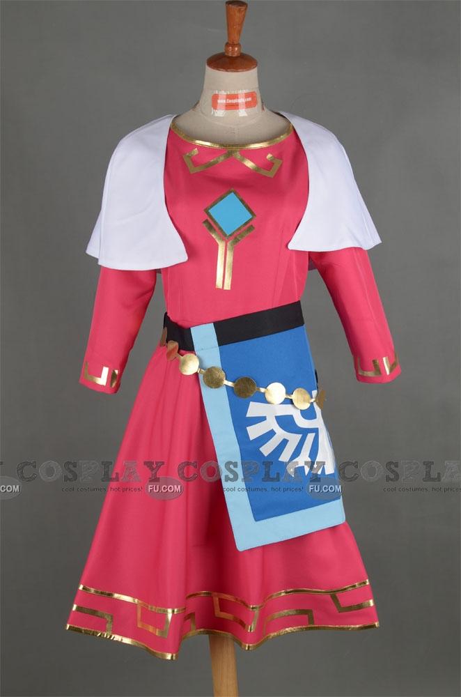 Custom Princess Zelda Cosplay Costume From The Legend Of