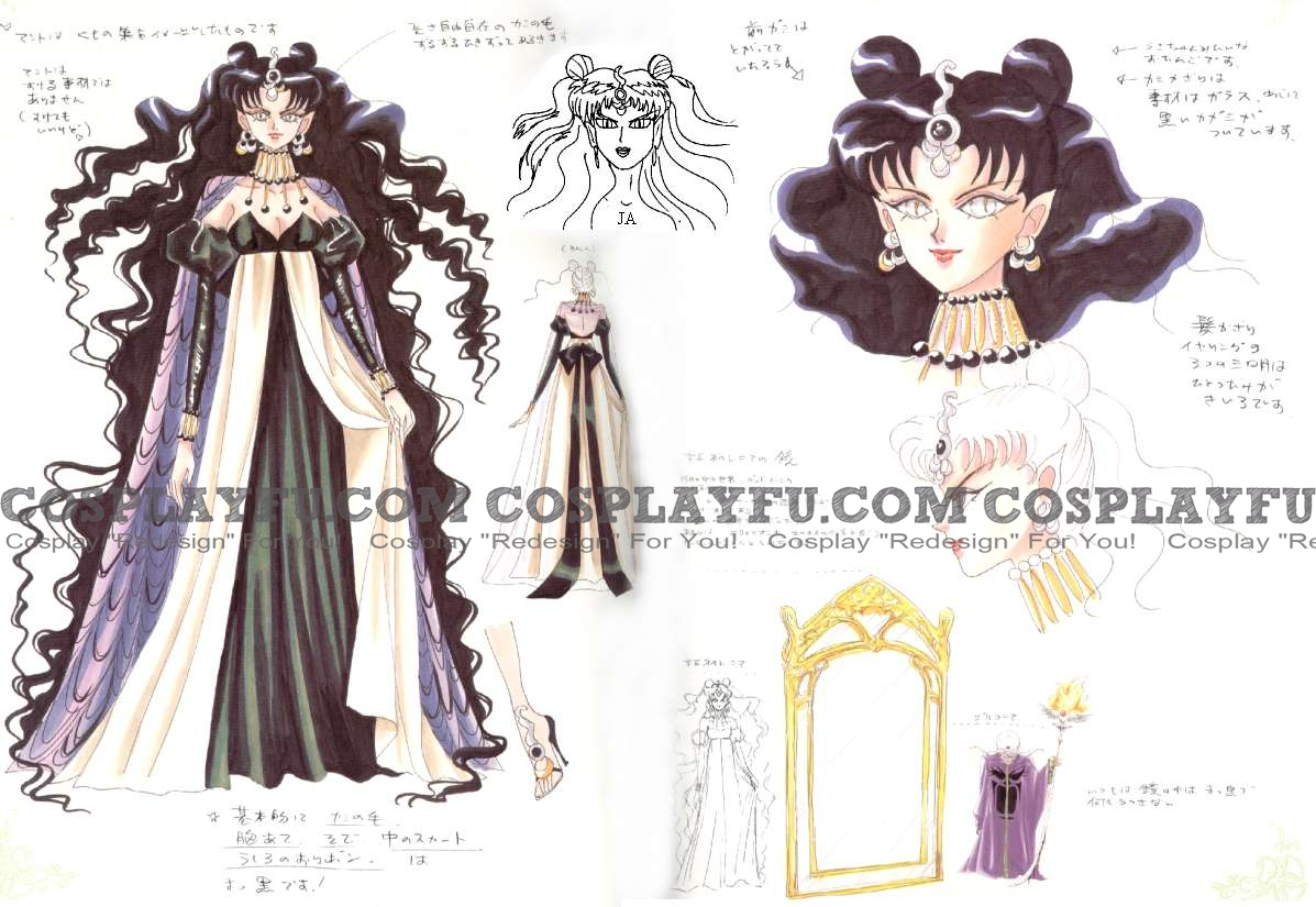 Queen Nehelenia Cosplay Costume from Sailor Moon