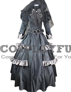 Queen Victoria Cosplay Costume (Black Dress) from Kuroshitsuji