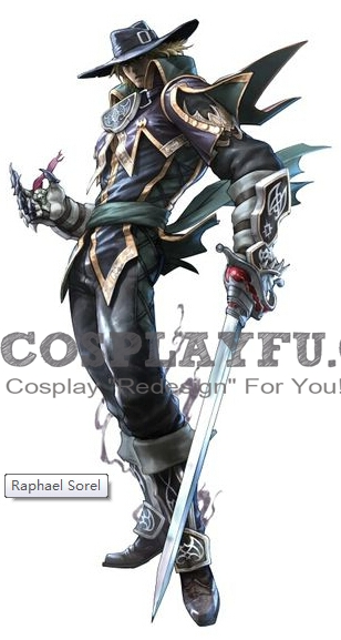 Raphael Sorel Cosplay Costume from Soulcalibur