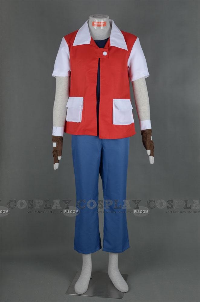 Custom Red Cosplay Costume from Pokemon - CosplayFU.com