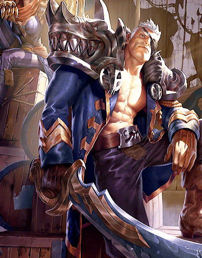 Rogue Admiral Garen Cosplay Costume from League of Legends