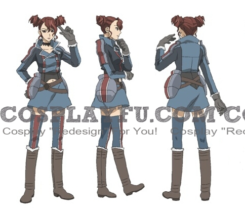 Rosie Cosplay Costume from Valkyria Chronicles