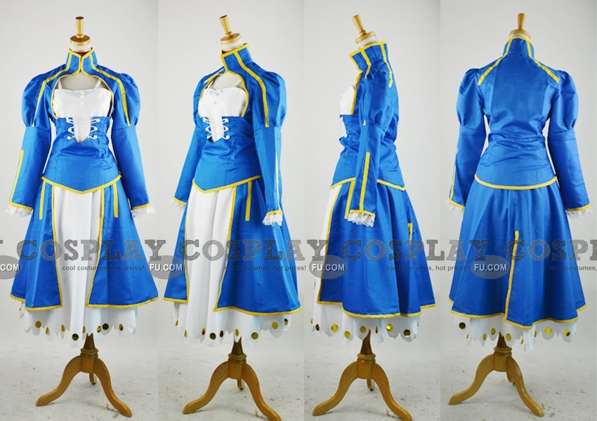 Saber Cosplay Costume from Fate Stay Night