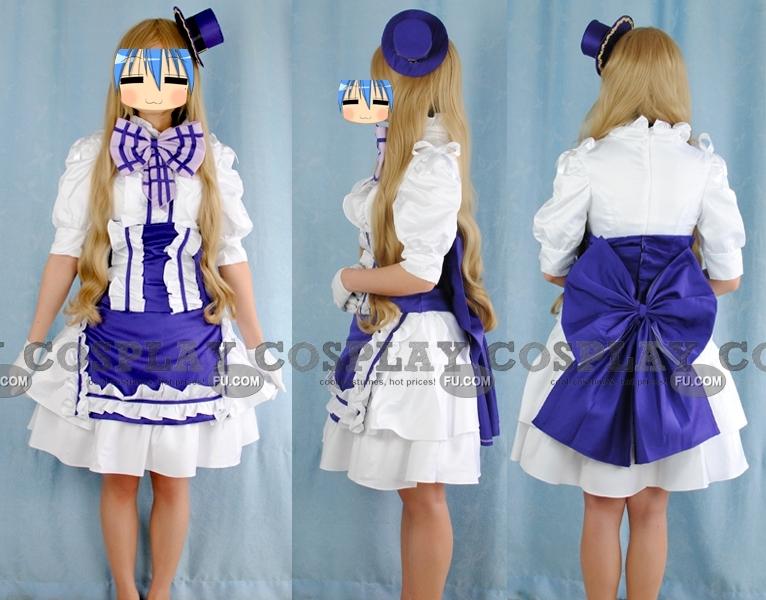 Macross Frontier Sheryl Nome Costume (Twins Purple Dress)