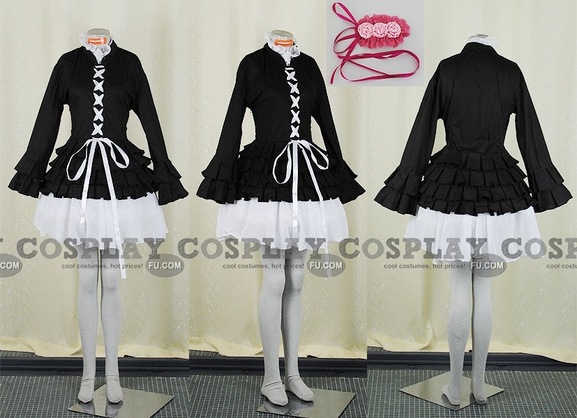Simca Cosplay Costume (Black) from Air Gear