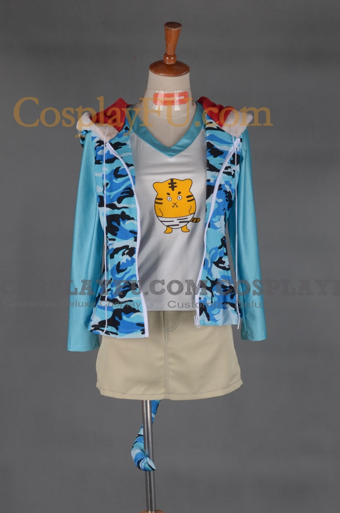 Super Sonico Cosplay Costume (Tiger) from Super Sonico