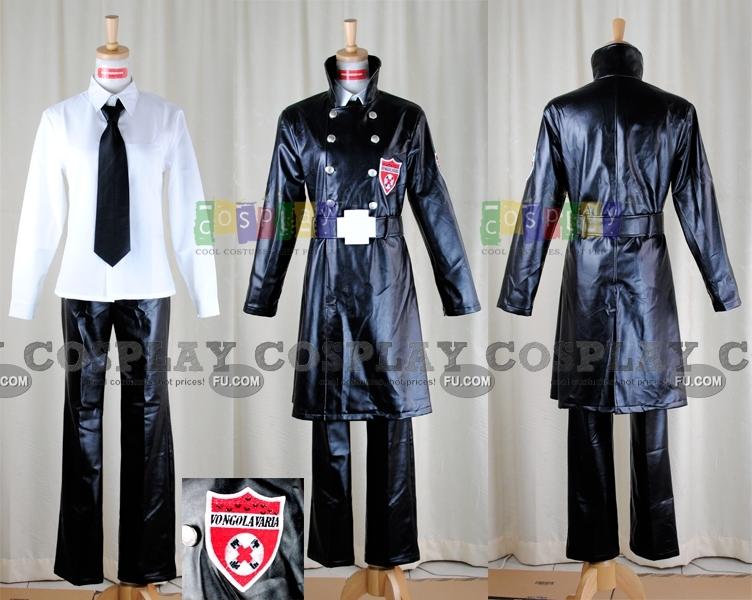 Tutor Hitman Reborn! Superbi Squalo Costume (Varia Uniform)