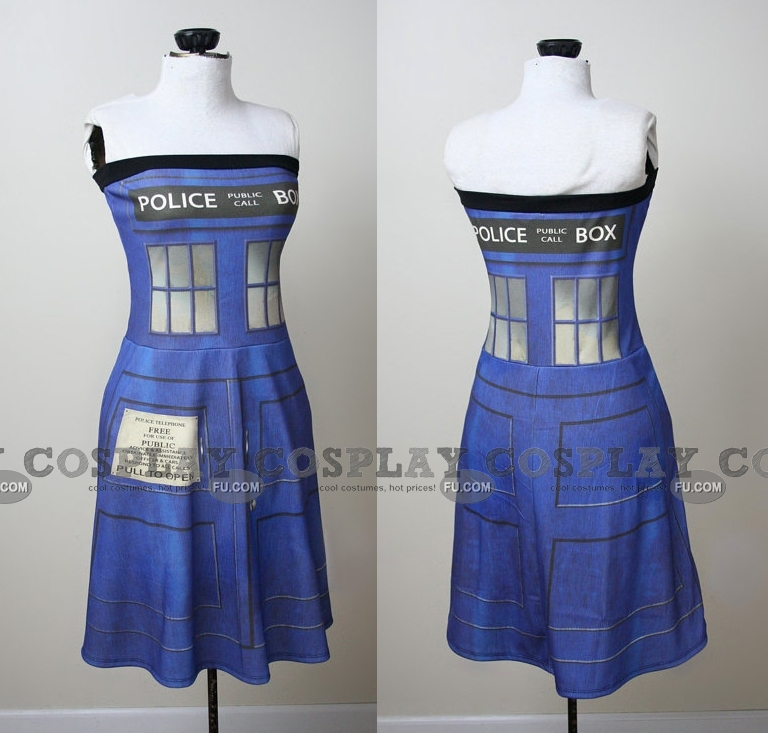 Tardis Cosplay Costume (Police Box Dress) from Doctor Who