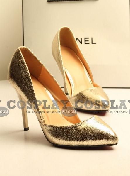 Custom Shoes (Gold High Heel)