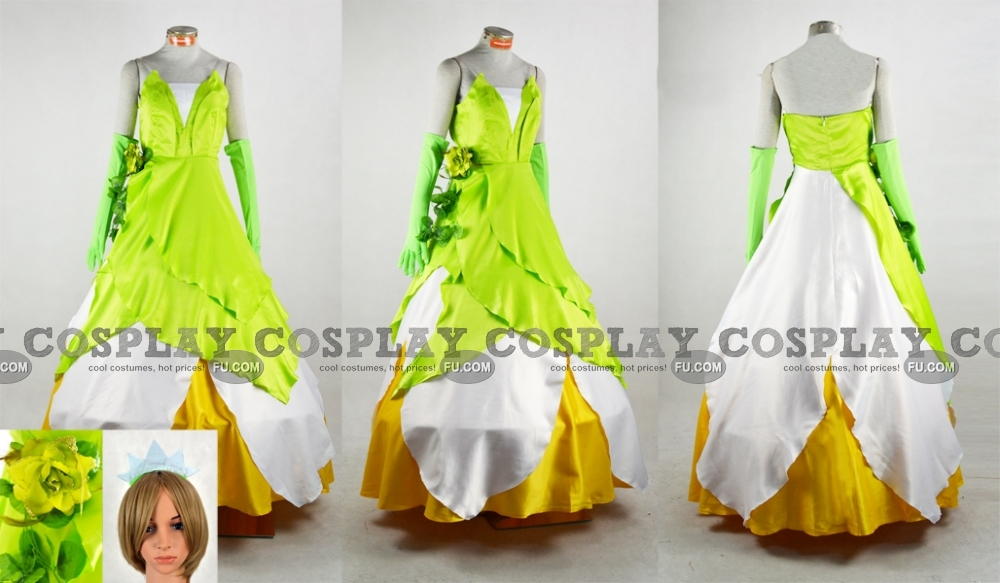 Tiana Cosplay Costume from The Princess and The Frog