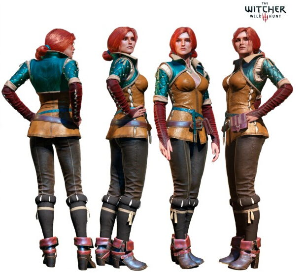 Triss Merigold Cosplay Costume from Witcher 3 The Wild Hunt