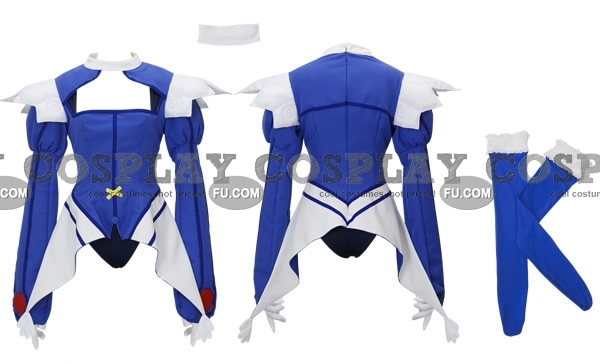 Kaitō Tenshi Twin Angel Aoi Kanazuki Costume (bleu)
