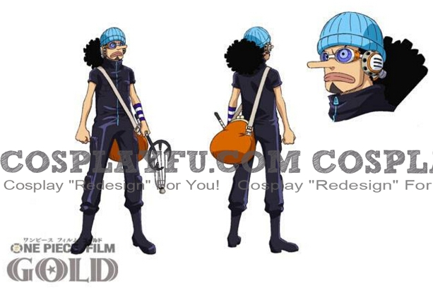 Usopp Cosplay Costume (Gold) from One Piece